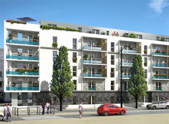 location appartement nantes schuman beau t3 avec grande terrasse nord loire transactions. Black Bedroom Furniture Sets. Home Design Ideas